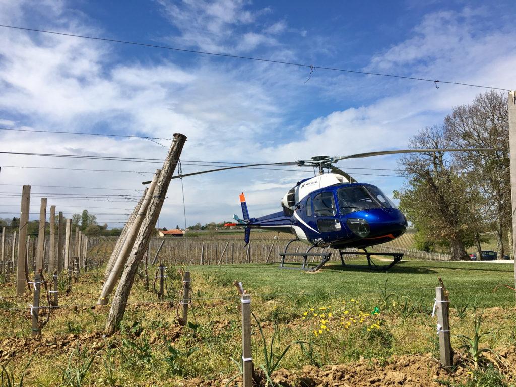 Travail aerien - Lutte anti gel - Mont Blanc Hélicoptères Paris